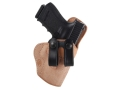 Product detail of El Paso Saddlery Summer Cruiser Inside the Waistband Holster Right Hand Glock 19, 23, 32 Leather Natural and Black