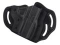 Product detail of DeSantis Intimidator Belt Holster 1911 Officer, Defender, EMP, Ultra Kydex and Leather Black