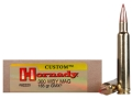 Product detail of Hornady Custom Ammunition 300 Weatherby Magnum 165 Grain Gilding Metal Expanding Boat Tail Lead-Free Box of 20