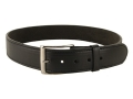 "Product detail of DeSantis Plain Holster Belt 1-3/4"" Nickel Plated Brass Buckle Suede Lined Leather"