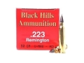 Product detail of Black Hills Ammunition 223 Remington 60 Grain Hornady V-Max Box of 50