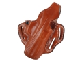 Product detail of DeSantis Thumb Break Scabbard Belt Holster Right Hand Beretta Heckler & Koch USP Fullsize 45 Leather Tan