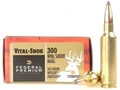 Product detail of Federal Premium Vital-Shok Ammunition 300 Winchester Short Magnum (WSM) 165 Grain Nosler Partition Spitzer Box of 20