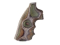 Product detail of Hogue Fancy Hardwood Grips with Finger Grooves Colt Python