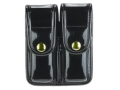 Product detail of Bianchi 7902 AccuMold Elite Double Magazine Pouch Single Stack 9mm, 45 ACP Brass Snap Trilaminate Black