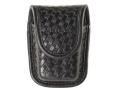 Product detail of Bianchi 7915 AccuMold Elite Pager or Glove Pouch Hidden Snap Basketweave Trilaminate Black
