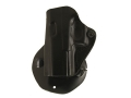 Product detail of DeSantis Top Cop Paddle Holster Left Hand Glock 19, 23 Leather Black