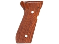 Product detail of Hogue Fancy Hardwood Grips Beretta 92F, 92FS, 92SB, 96, M9 Checkered Cocobolo