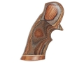 Product detail of Hogue Fancy Hardwood Grips with Accent Stripe and Top Finger Groove D...