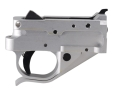 Product detail of Timney Trigger Guard Assembly Ruger 10/22 2-3/4 lb Aluminum Black Trigger with Silver Lower