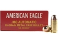 Product detail of Federal American Eagle Ammunition 380 ACP 95 Grain Full Metal Jacket Box of 50
