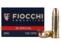 Product detail of Fiocchi Shooting Dynamics Ammunition 38 Special 158 Grain Full Metal ...