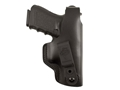 Product detail of DeSantis Dual Carry II Inside/Outside the Waistband Holster Right Hand Glock 17, 22, SIG P220, P226 Leather Black