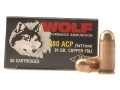 Product detail of Wolf Ammunition 380 ACP 91 Grain Full Metal Jacket Steel Case Berdan Primed