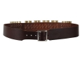 "Product detail of Hunter Cartridge Belt Combo 2-1/2"" 45 Caliber 10 Loops and 12 Gauge 8 Loops Leather Antique Brown Large"
