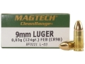 Product detail of Magtech Clean Range Ammunition 9mm Luger 124 Grain Encapsulated