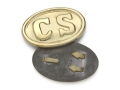 "Product detail of Collector's Armoury Replica Civil War Confederate ""CS"" Belt Buckle Brass"