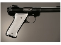 Product detail of Hogue Extreme Series Grip Ruger Mark II, Mark III Checkered Brushed Aluminum Gloss