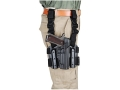 Product detail of BlackHawk Tactical Serpa Thigh Holster Right Hand Glock 17, 19, 22, 23, 31, 32 Polymer Black
