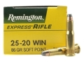 Product detail of Remington Express Ammunition 25-20 WCF 86 Grain Soft Point Box of 50