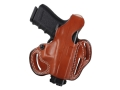 Product detail of DeSantis Thumb Break Scabbard Belt Holster Right Hand Glock 26, 27, 33 Leather Tan
