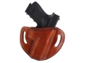 Product detail of El Paso Saddlery #88 Street Combat Outside the Waistband Holster Right Hand Glock 17, 22, 31 Leather Russet Brown