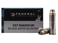 Product detail of Federal Power-Shok Hunting Ammunition 357 Magnum 180 Grain Jacketed Hollow Point Box of 20