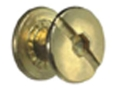 Product detail of The Outdoor Connection Chicago Screws Brass Package of 25
