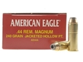 Product detail of Federal American Eagle Ammunition 44 Remington Magnum 240 Grain Jacketed Hollow Point Box of 50