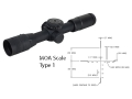 Product detail of U.S. Optics ST10 Rifle Scope 30mm Tube 10x 37mm EREK Elevation Turret Adjustable Objective First Focal Illuminated MOA Scale Type 1 Reticle Matte