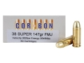 Product detail of Cor-Bon Performance Match Ammunition 38 Super 147 Grain Full Metal Jacket Box of 50