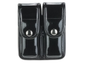 Product detail of Bianchi 7902 AccuMold Elite Double Magazine Pouch Single Stack 9mm, 45 ACP Chrome Snap Trilaminate Black