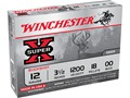 "Product detail of Winchester Super-X Magnum Ammunition 12 Gauge 3-1/2"" Buffered 00 Buckshot 18 Pellets"