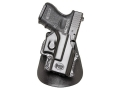 Product detail of Fobus Paddle Holster Right Hand Glock 26, 27, 33 Polymer Black