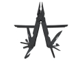 Product detail of SOG PowerLock Multi-Tool 17 Tools With C-4 Spike Stainless EOD Black