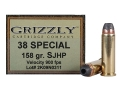 Product detail of Grizzly Ammunition 38 Special 158 Grain Jacketed Hollow Point Box of 20