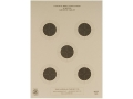 Product detail of NRA Official Air Rifle Targets AR-5/5 10 Meter Air Rifle Paper Package of 100