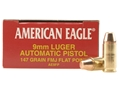 Product detail of Federal American Eagle Ammunition 9mm Luger 147 Grain Full Metal Jacket Box of 50