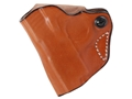 Product detail of DeSantis Mini Scabbard Outside the Waistband Holster Left Hand Sig Sauer P238 Leather Tan