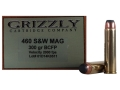 Product detail of Grizzly Ammunition 460 S&W Magnum 300 Grain Hawk Bonded Core Jacketed Flat Point Box of 20