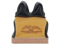 Product detail of Protektor Deluxe Double Stitched Mid-Ear Rear Shooting Rest Bag with Heavy Doughnut Bottom Leather Black and Yellow Unfilled