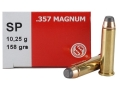 Product detail of Sellier & Bellot Ammunition 357 Magnum 158 Grain Jacketed Soft Point Box of 50