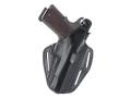 Product detail of BlackHawk CQC 3 Slot Pancake Belt Holster Right Hand Glock 19, 23, 32, 36 Leather Black