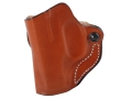 Product detail of DeSantis Mini Scabbard Outside the Waistband Holster Left Hand Ruger LC9 Leather Tan
