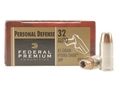 Product detail of Federal Premium Personal Defense Ammunition 32 ACP 65 Grain Hydra-Shok Jacketed Hollow Point Box of 20