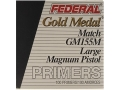 Product detail of Federal Premium Gold Medal Large Pistol Magnum Match Primers #155M