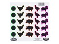 Product detail of Birchwood Casey Dirty Bird Multi-Color Animal Silhouette Target Package of 20