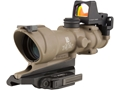 Product detail of Trijicon ACOG TA01-ECOS-RMR Rifle Scope 4x 32mm Tritium Illuminated Amber Crosshair 223 Remington Reticle with 3.25 MOA RMR Red Dot Sight, Iron Sight and ARMS Throw Lever Flattop Mount Dark Earth