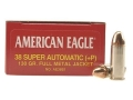 Product detail of Federal American Eagle Ammunition 38 Super +P 130 Grain Full Metal Jacket Box of 50