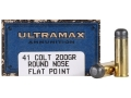 Product detail of Ultramax Cowboy Action Ammunition 41 Long Colt 200 Grain Lead Flat Nose Box of 50
